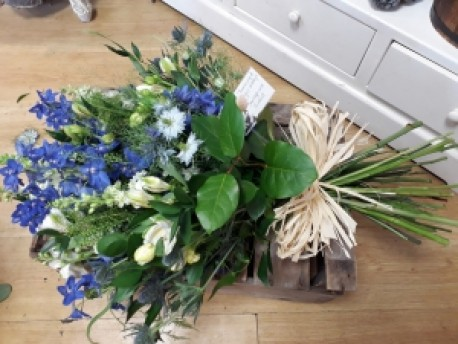 Blue and White tied Sheaf