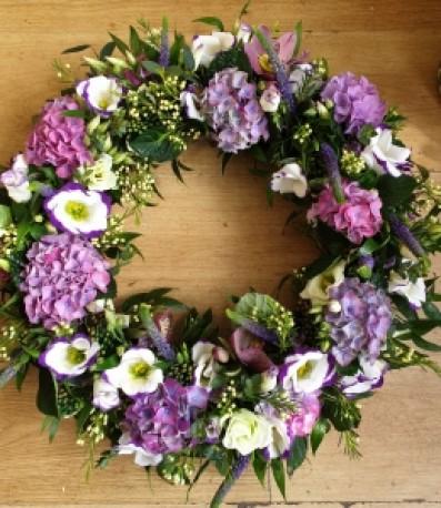 Pretty garden wreath